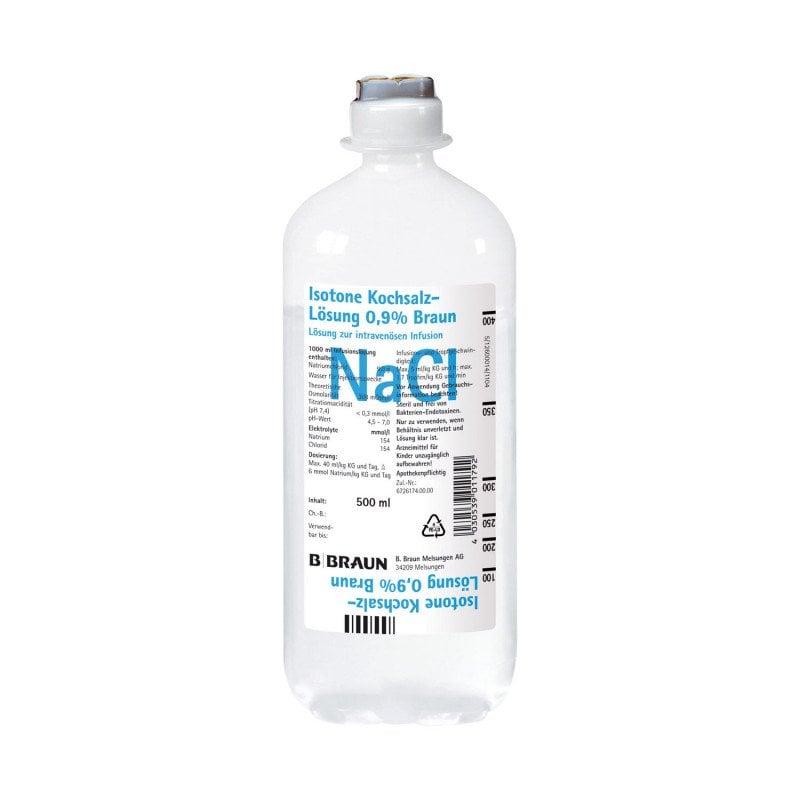 Isotonic Saline Solution 0.9% 500 ml from B. Braun Petzold