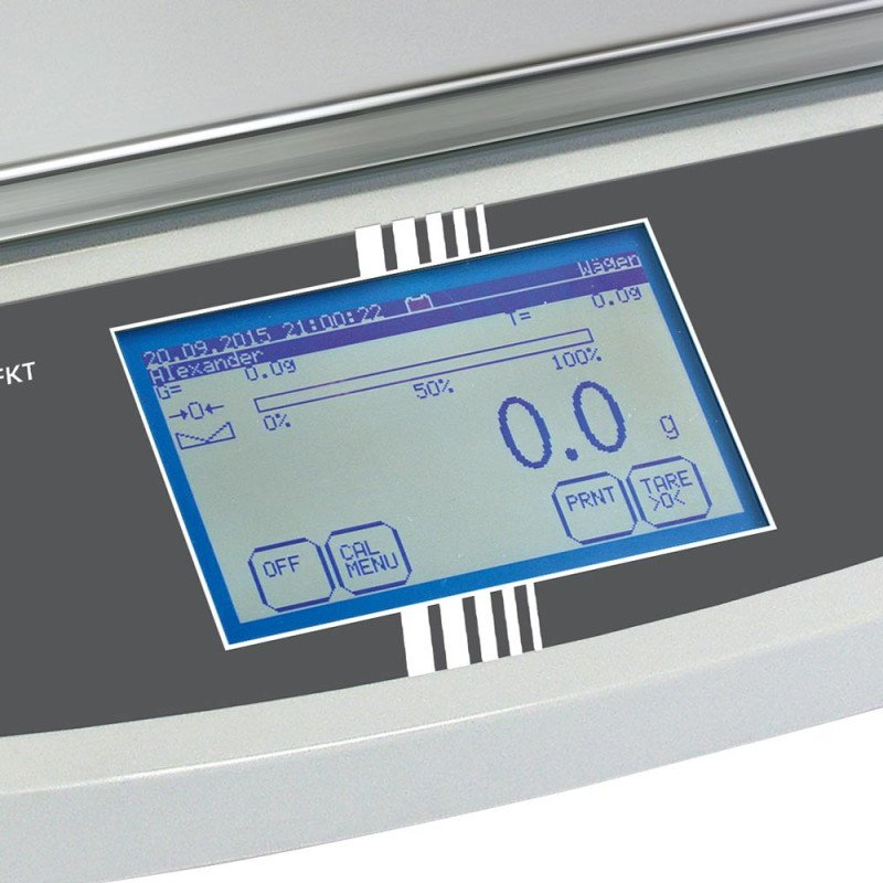 Calibrated Laboratory Scales with Touchscreen Weighing range up to 6,000 g