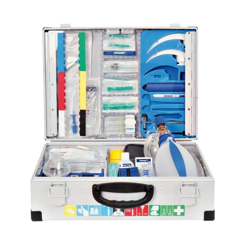 Notfallkoffer EUROMED Befüllung: Modul A+B, Koffer aus Aluminium