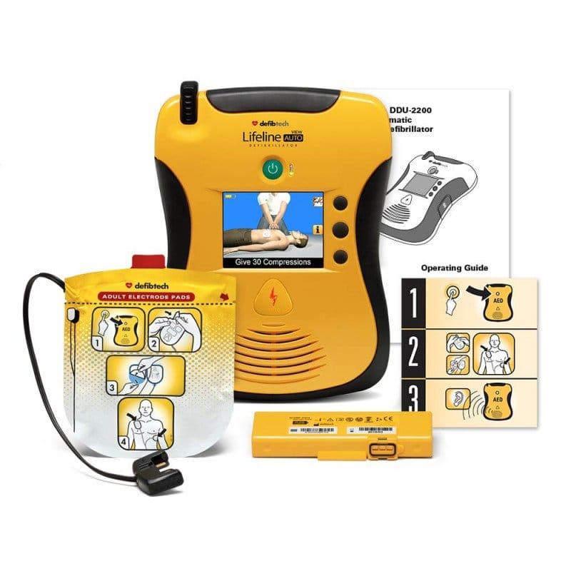 AED Lifeline VIEW, zweisprachig von Defibtech