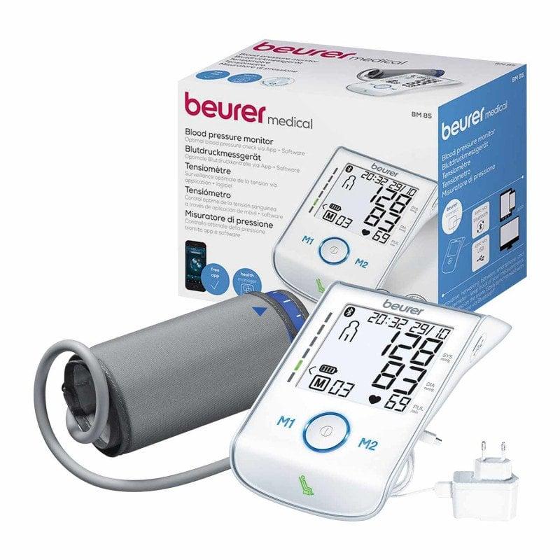 Beurer BM 85 BT Blutdruckmessgerät mit Bluetooth-Übertragung zum Smartphone