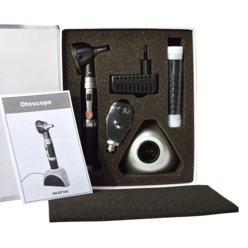 Otoskop/Ophthalmoskop Diagnostik-Set mit 2.5 V Halogen-Technologie