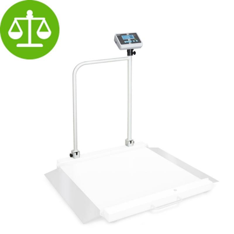 Plateforme de pesée pour fauteuil roulant Kern MWA avec barres de support