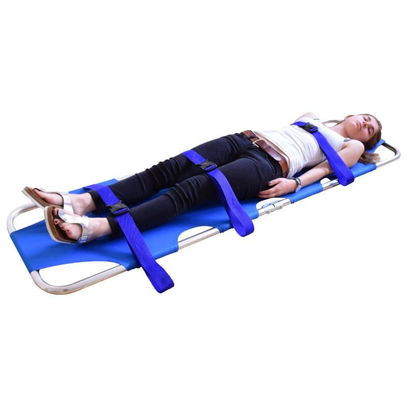 Teqler Krankentrage, klappbar maximal belastbar bis 159 kg