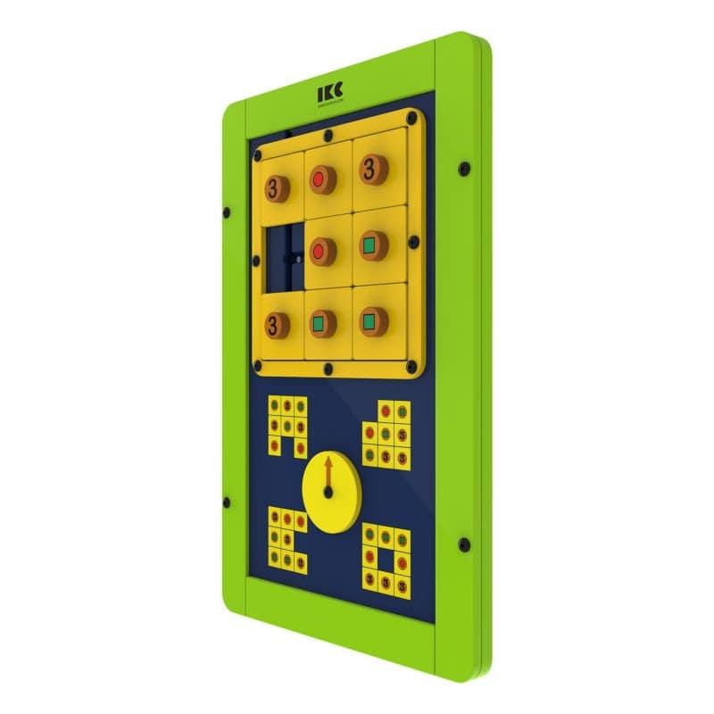 Module de jeu «logique en carré» vert
