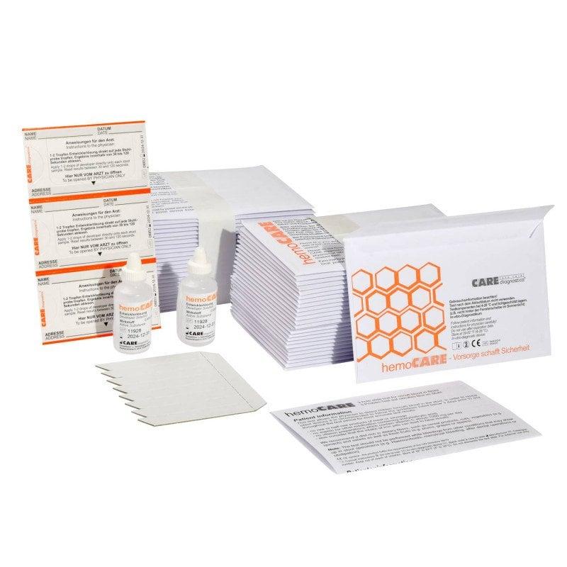 hemoCARE Guajak-Test zum Nachweis von humanem Hämoglobin im Stuhl
