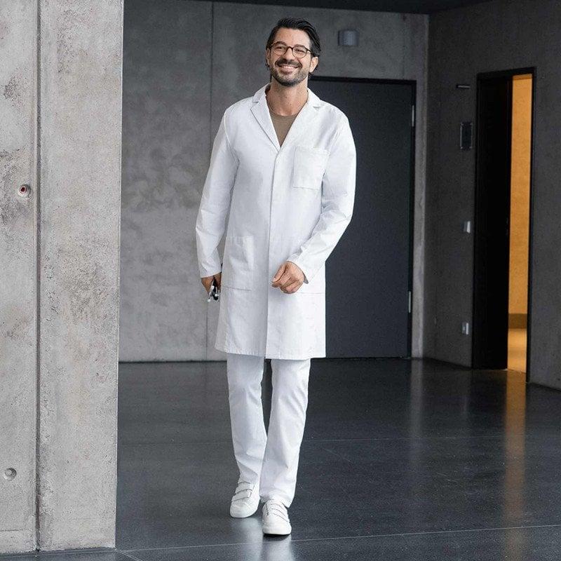 Men's Slim-Fit Lab Coat