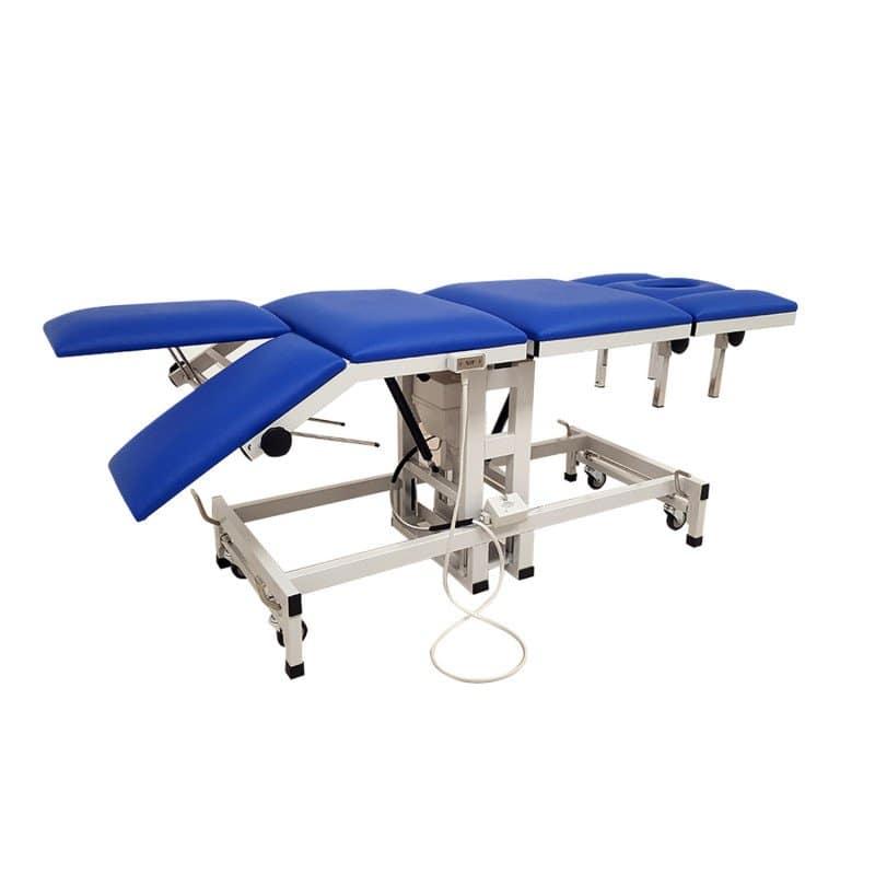 Camilla eléctrica para quiropráctica con 7 secciones abedul