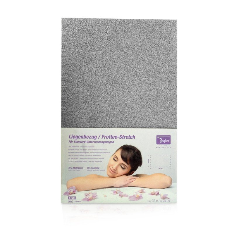 Fitted Sheet for Massage Tables and Examination Tables grey