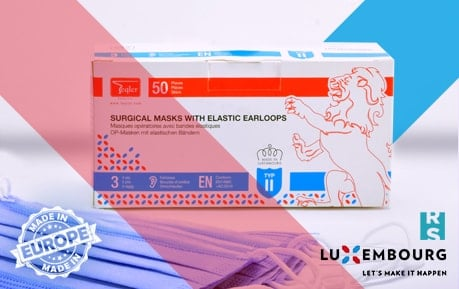 "Surgical Masks ""Made in Luxembourg"""