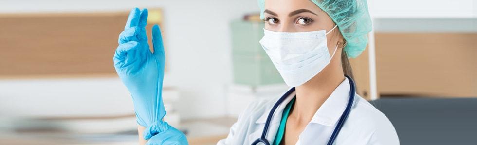 Medizinische Einweghandschuhe