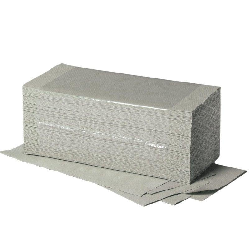 einlagige Papierhandtücher aus 100 % Recycling-Material in der Farbe naturell von Teqler
