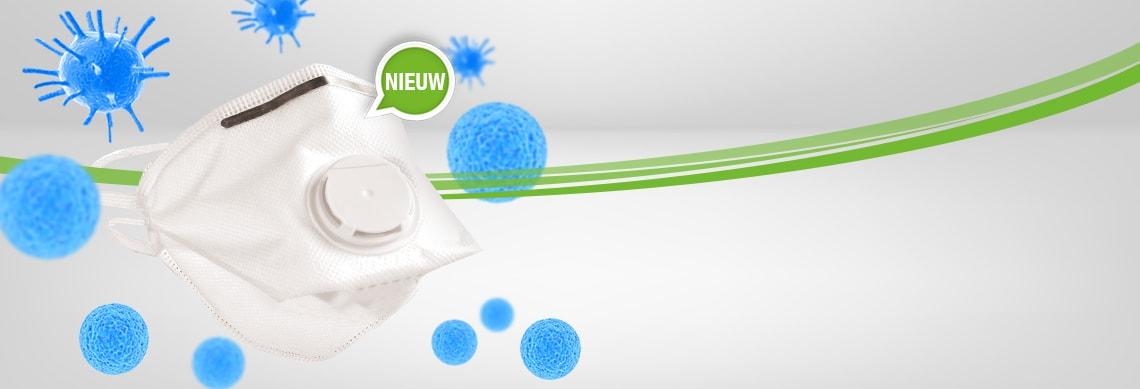 FFP3 adembeschermingsmasker met ventiel