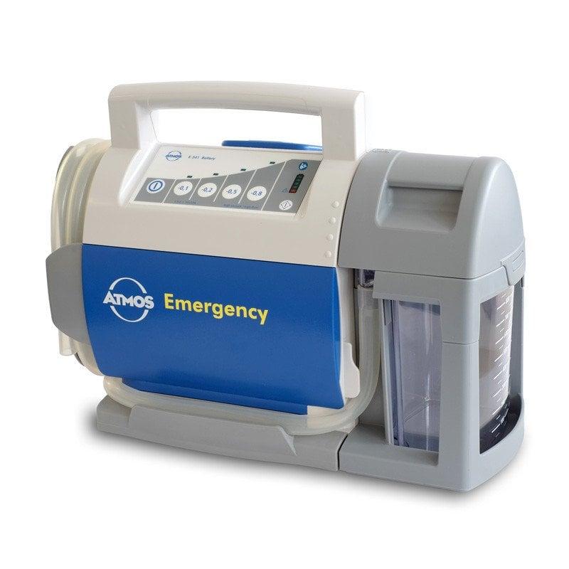 Pompe d'aspiration d'urgence ATMOS E341 Battery avec système de récipient DDS