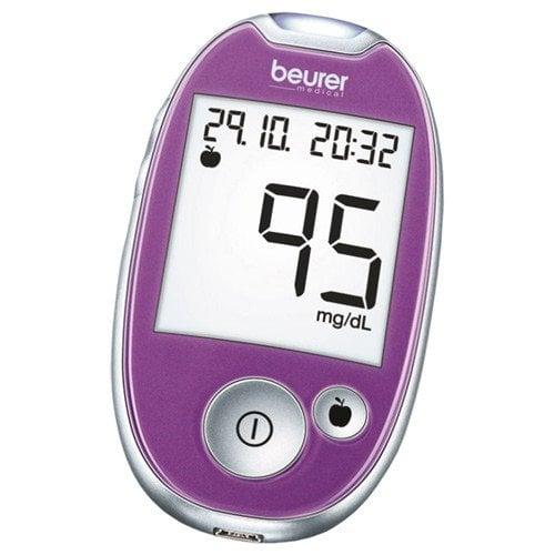 Beurer GL44 blood glucose monitor mg/dl   purple