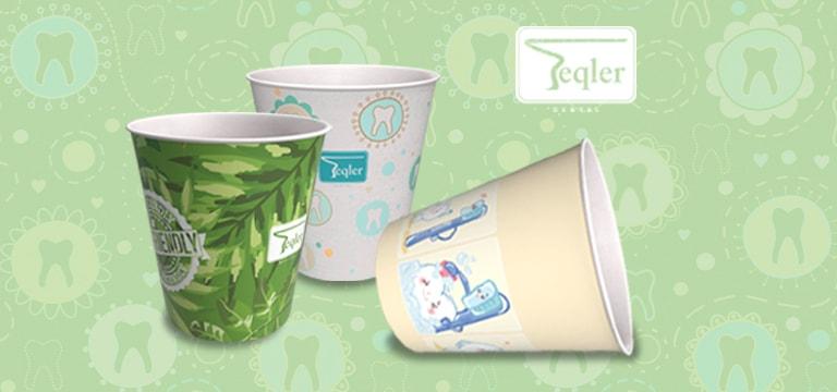 Vasos de papel desechables Teqler
