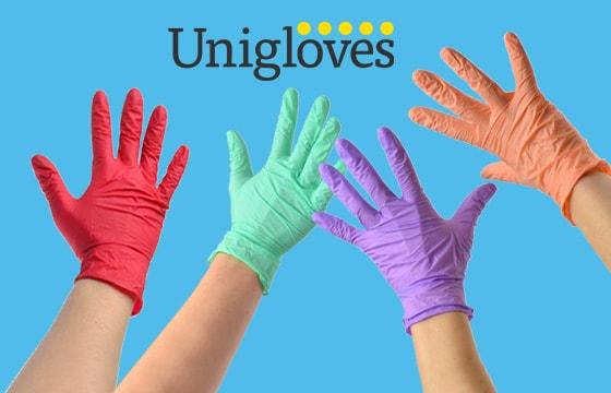 Rękawice nitrylowe Unigloves Pearl