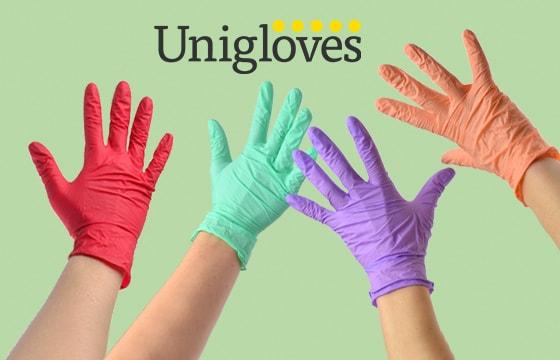 Guanti in nitrile colorati Unigloves