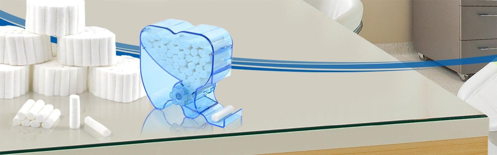 Dispensador de rollos de algodón