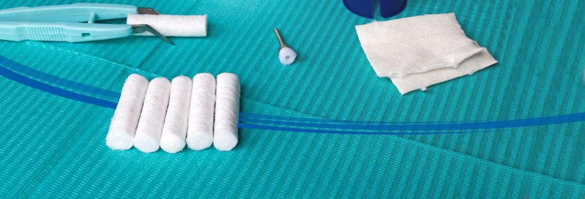Rollos de algodón