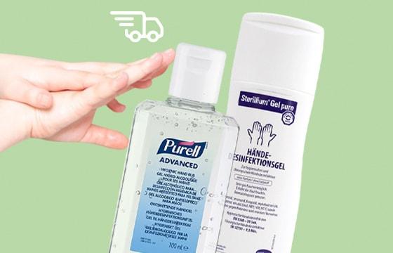Desinfectantes disponibles