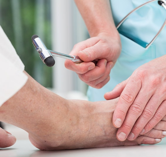 Neurologische Diabetes-Untersuchung