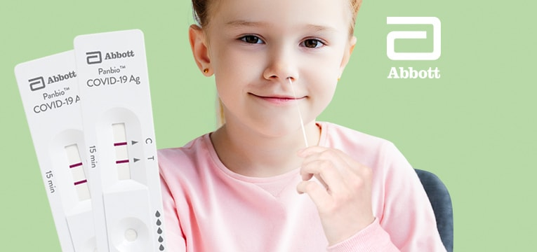 Für Kinder zugelassener COVID-19 Selbsttest