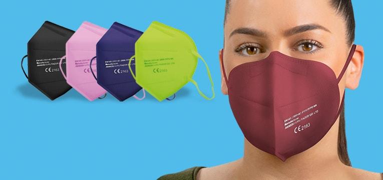 Kolorowa maska FFP2 bez zaworu