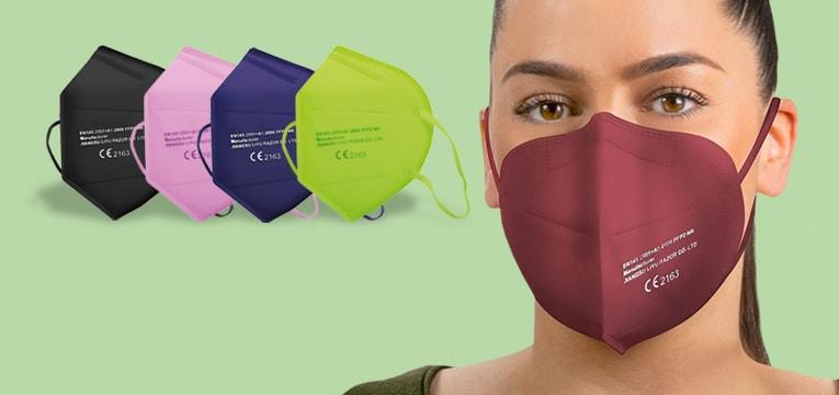Bunte FFP2-Masken
