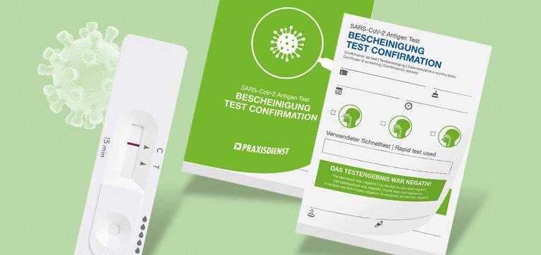 Certificados de prueba del SARS-CoV-2