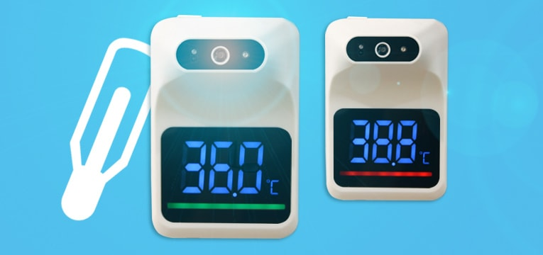 Thermomètre mural infrarouge