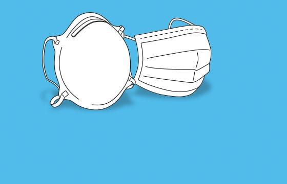 Mondmaskers en FFP-maskers vergeleken