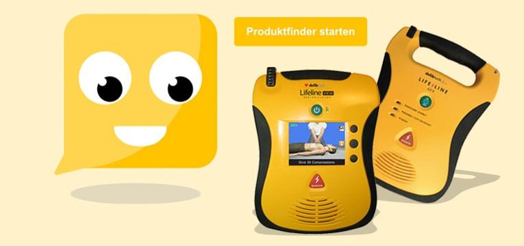 Jetzt den richtigen Defibrillator finden