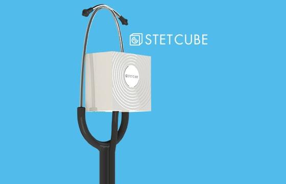 Stethoscoopdesinfectie met de Stet Cube