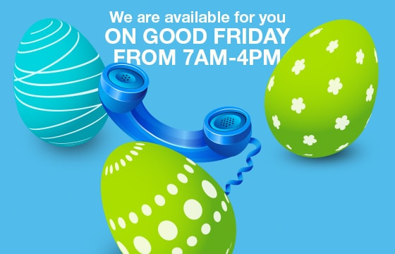 Contact Us on Good Friday