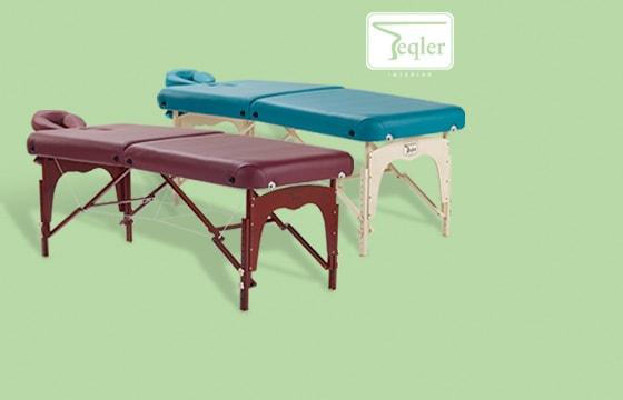 Lettino da massaggio portatile in legno