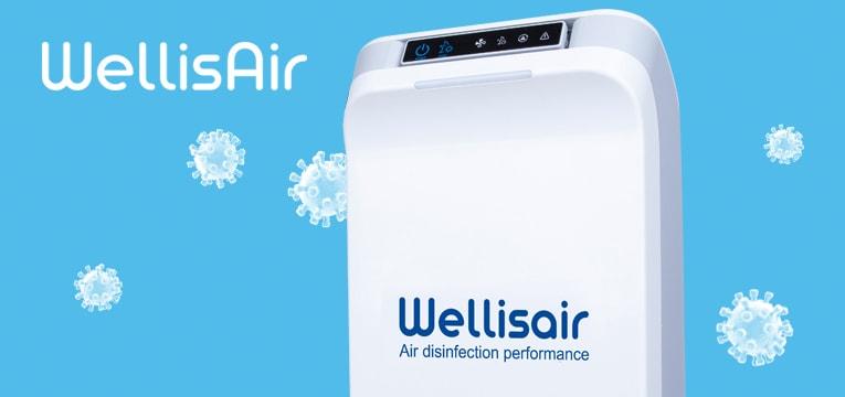 Wellisair lucht- en oppervlaktedesinfectie