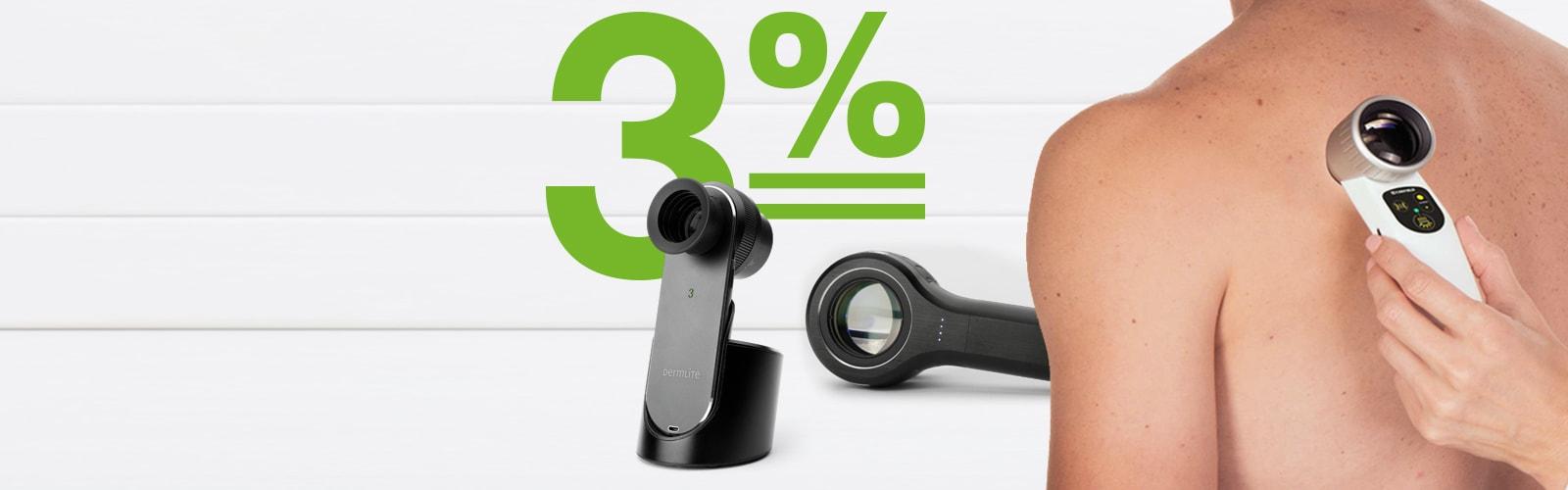 3% rabatu na wszystkie dermatoskopy!