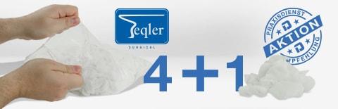 Teqler Schlinggaze- und Zellstoff-Tupfer