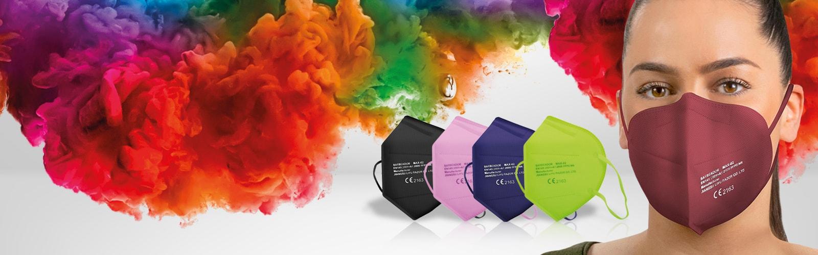 Gekleurde FFP2-maskers