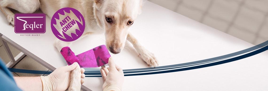 Gaas- en fixatiebandages voor veterinair gebruik