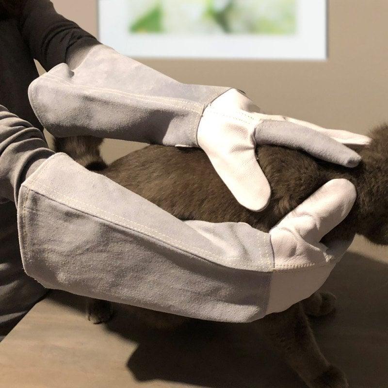 Schutzhandschuhe aus Leder von Teqler