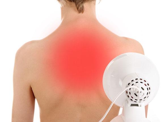 Infrarotlampe bei Erkältungen