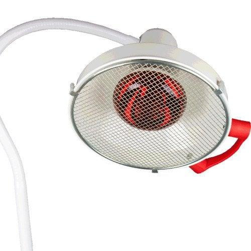 Therapie-Infrarotlampe mit Schwenkarm zur Wandbefestigung mit Schutzgitter
