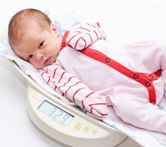 Básculas pesa bebés