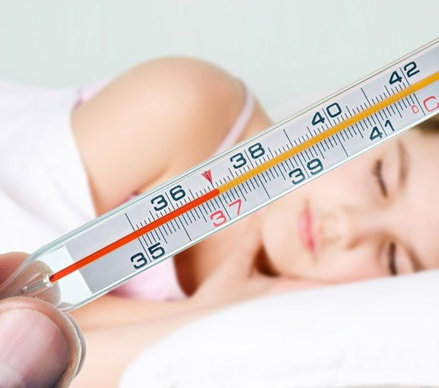 Body Temperature Measurement with Thermometer