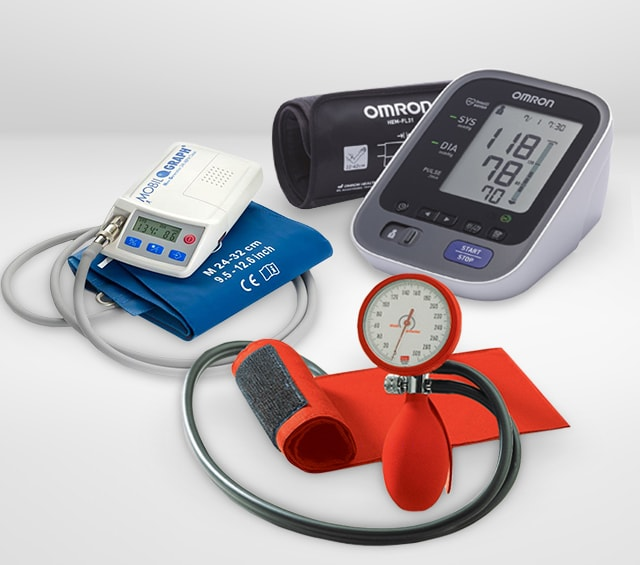Mesure de la tension artérielle à l'aide d'un brassard tensiomètre