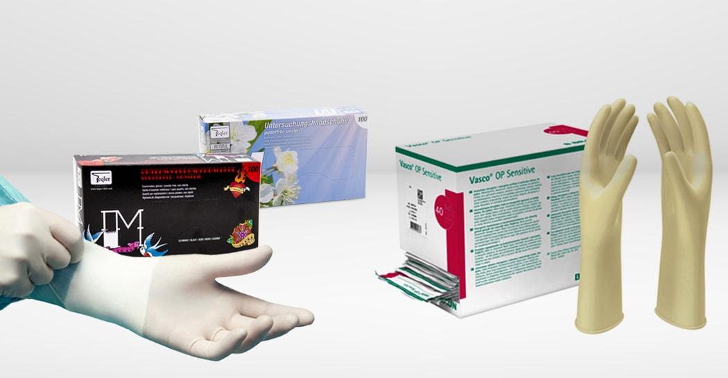 Gants à usage unique médicaux pour le cabinet médical