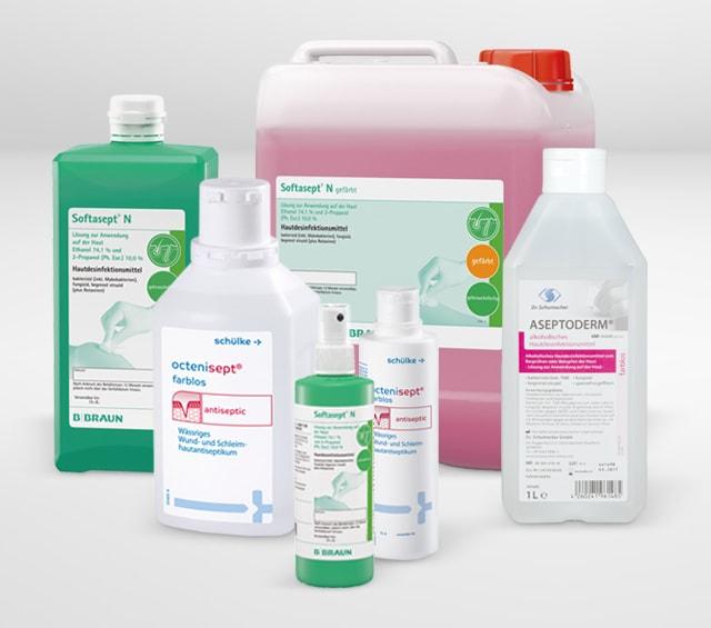 Désinfectants pour une désinfection professionnelle de la peau