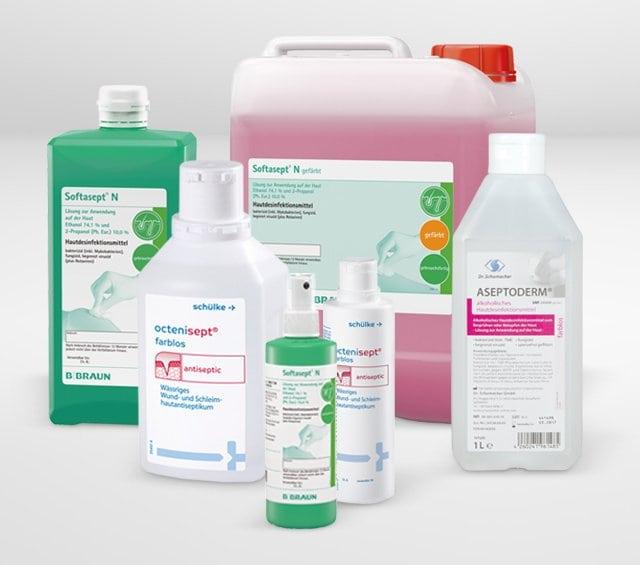 Desinfectantes especiales para la piel
